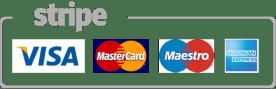 Logo de Visa, Mastercard, Maestro y American express